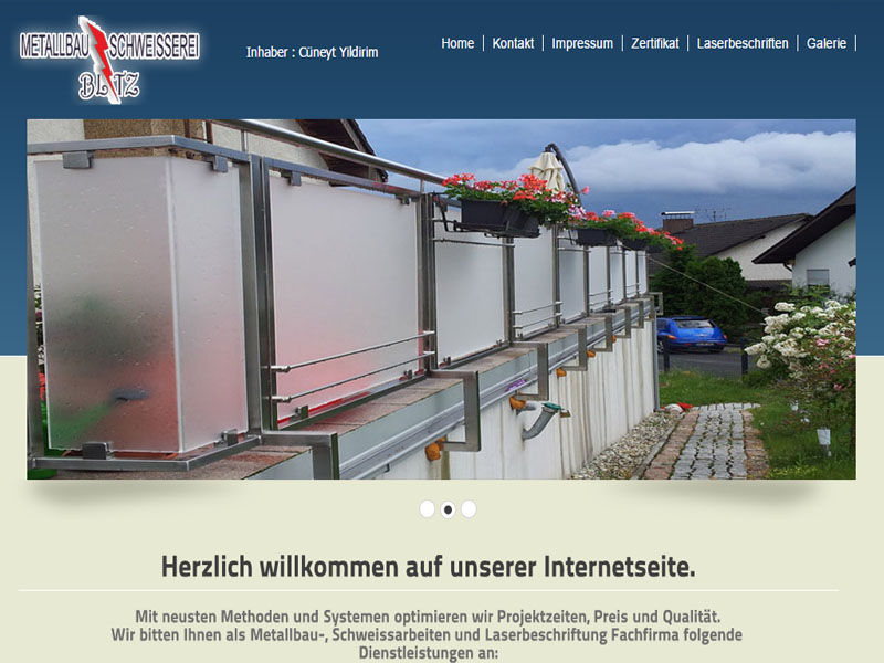 Metallbau Websitesi |