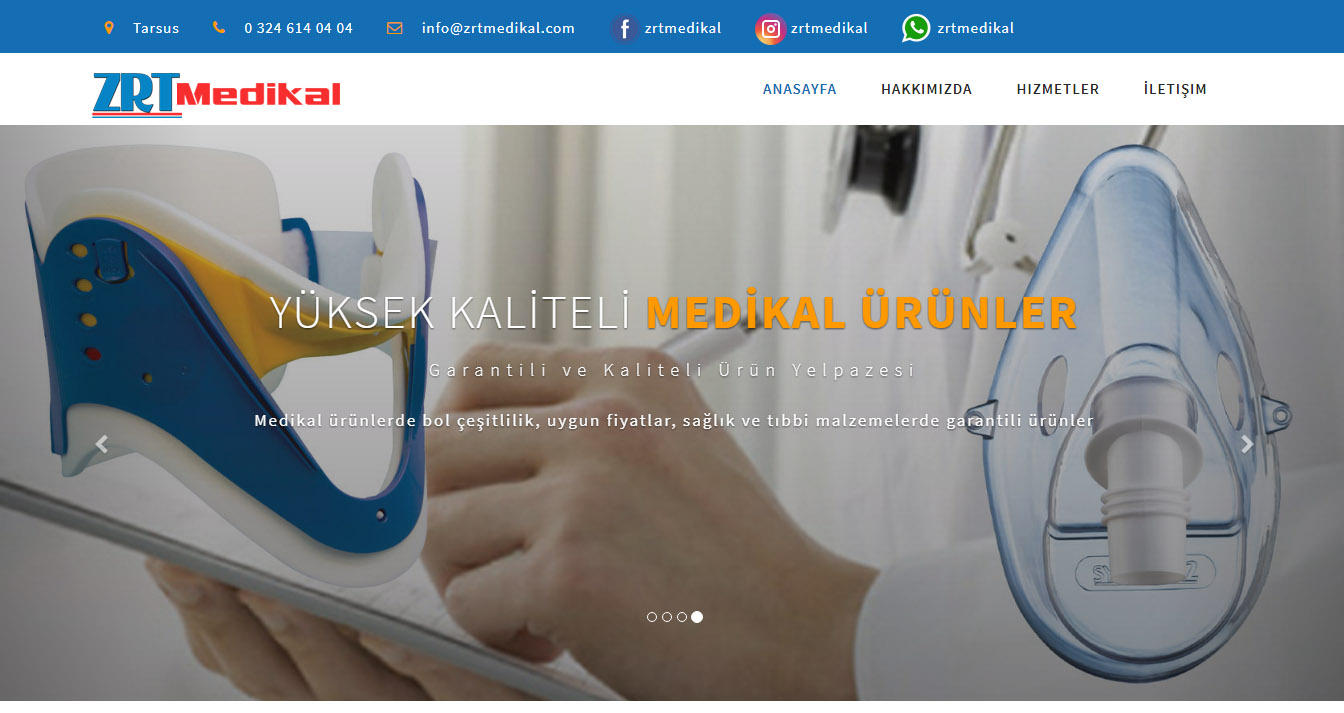 ZRT Medikal Websitesi |